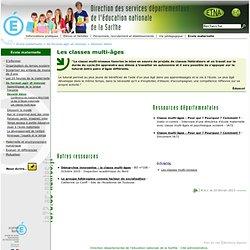 Inspection académique de Sarthe - Les classes multi-âges
