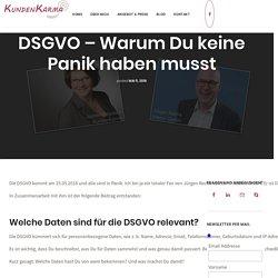 DSGVO: Warum Du keine Panik haben musst