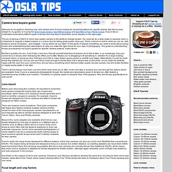 DSLR Tips: DSLR Lens Buying Guide