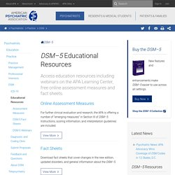DSM-5 Educational Resources