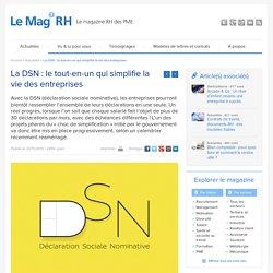 DSN - Déclarations simplifiées