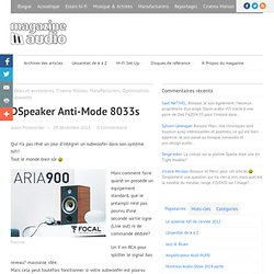 DSpeaker Anti-Mode 8033s - Magazine Audio