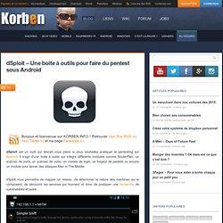 dSploit – Une boite à outils pour faire du pentest sous Android