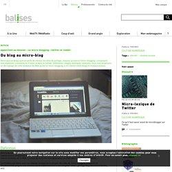 Du blog au micro-blog