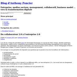Du collaborateur 2.0 à l'entreprise 2.0