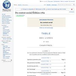 Du contrat social/Édition 1762