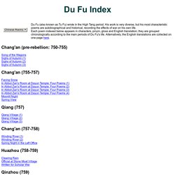 Du Fu Index