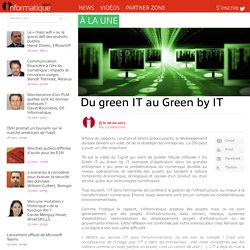 Du green IT au Green by IT