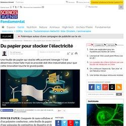 Du papier pour stocker l'électricité