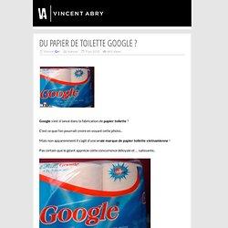 Du papier de toilette Google ?