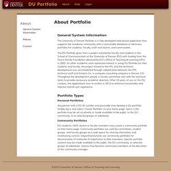 DU Portfolio: University of Denver