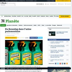 Du Roundup dans l'urine parlementaire