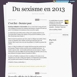 Du sexisme en 2013