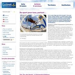 Politique sportive du Département du Loiret - 2