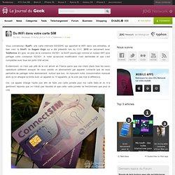 Du WiFi dans votre carte SIM