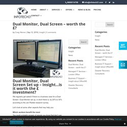 Dual Monitor, Dual Screens - are they worth the £?