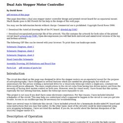 Dual Axis Stepper Motor Controller