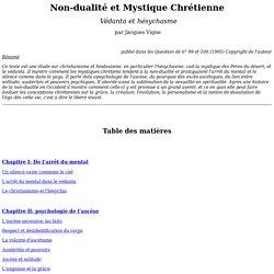 Non-dualité et Mystique Chrétienne