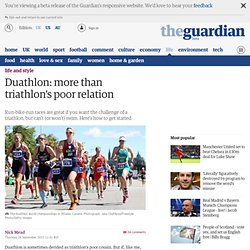 Duathlon: more than triathlon's poor relation