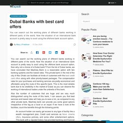 Dubai Banks with best card offers