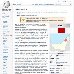 Dubaï (émirat)