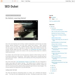 SEO Dubai: Do Holistic Learning Works?