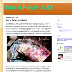 Dubai Poster UAE: How to Get a Job in Dubai
