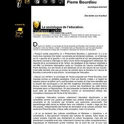 F. Dubet : Le sociologue de l'éducation. 10/98