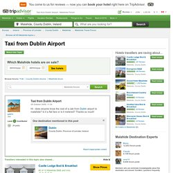 Taxi from Dublin Airport to Malahide