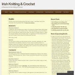 Irish Knitting & Crochet