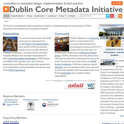 DCMI Home: Dublin Core® Metadata Initiative (DCMI)