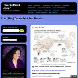 Coni (Allen) Dubois DNA Test Results