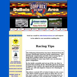 DuBois Soap Box Derby - racing introduction