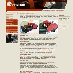 dubplatecutter - Vinylium