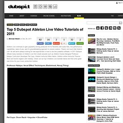Top 5 Dubspot Ableton Live Video Tutorials of 2011