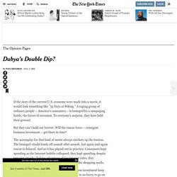 Dubya's Double Dip?
