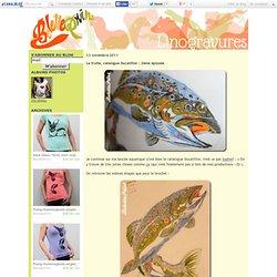 La truite, catalogue Ducatillon : 2ème épisode - Belette Print, Linogravure