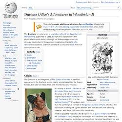 Duchess (Alice's Adventures in Wonderland)