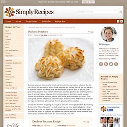 Duchess Potatoes Recipe