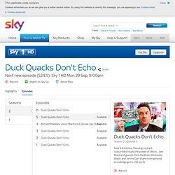 Duck Quacks Don't Echo TV Series - Episodes