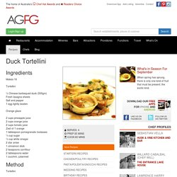 Duck Tortellini Recipe