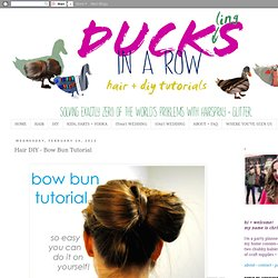 Hair DIY - Bow Bun Tutorial