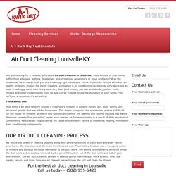 louisville air duct cleaning information