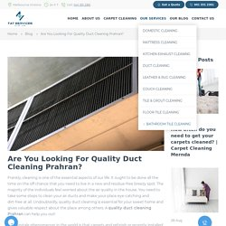 Duct Cleaning Prahran
