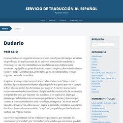 Servicio de Traducción al Español