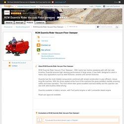 RCM Duemila Rider Vacuum Floor Sweeper