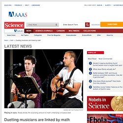 Duetting musicians are linked by math