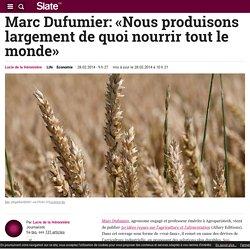 Marc Dufumier: «Nous produisons largement de quoi nourrir tout le monde»