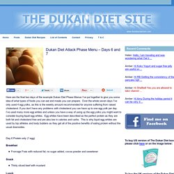 Dukan Diet Attack Phase Menu – Days 6 and 7