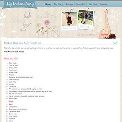 Dukan Diet 100 allowed foods list